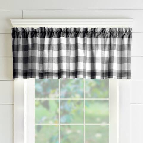 "The Gray Barn Emily Gulch Buffalo Check Kitchen Window Valance - 60"" W x15"" L"