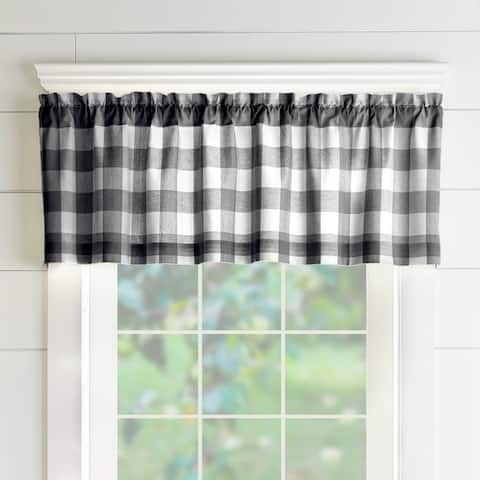 "The Gray Barn Emily Gulch Buffalo Check Kitchen Window Valance - 60"" W x15"" L"