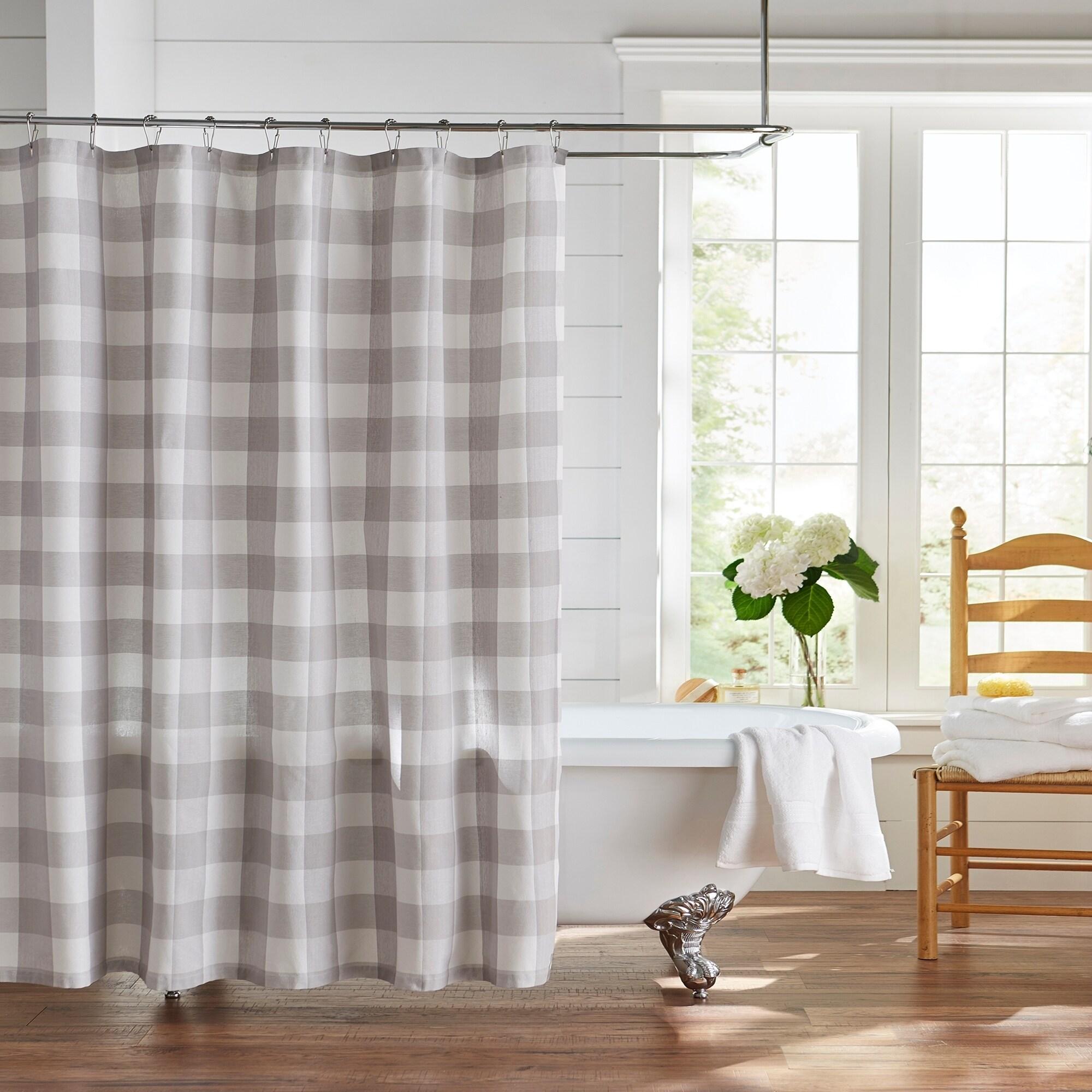 The Gray Barn Emily Gulch Buffalo Check Shower Curtain