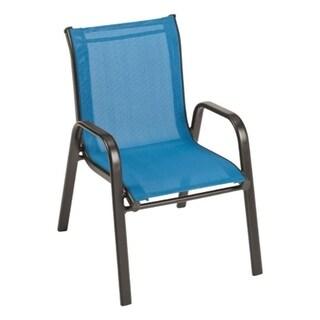 Havenside Home Gjoa Kids' Blue Black Steel Chair