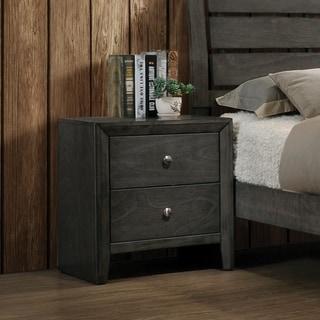 Wakefield Mod Grey 2-drawer Nightstand