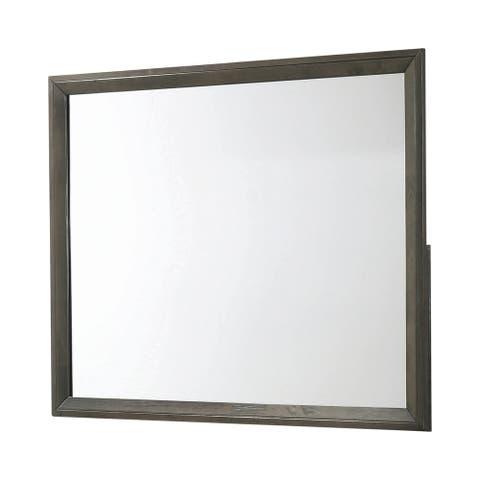 "Porch & Den Essner Grey Rectangular Mirror - Mod Grey - 45"" x 0.75"" x 35.50"""