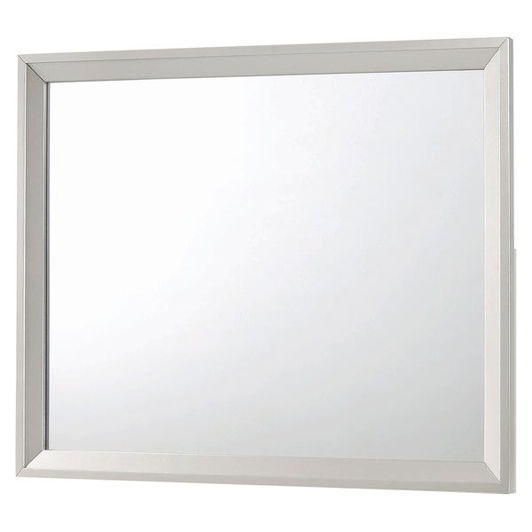 """Silver Orchid Adoree Metallic Sterling Finish Wood Frame Mirror - Metallic Sterling - 45.75"""" x 1.25"""" x 35.75"""""""
