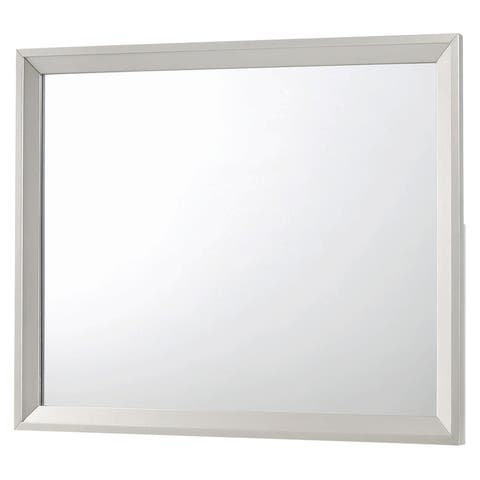 Silver Orchid Adoree Metallic Sterling Finish Wood Frame Mirror