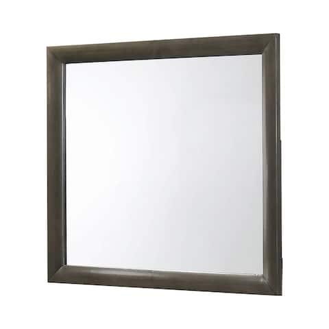 "Porch & Den Dauer Grey Rectangular Mirror - Mod Grey - 39.25"" x 1.25"" x 34.75"""