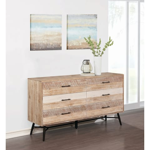 Carbon Loft Verdun Rough Sawn Multi 6-drawer Dresser