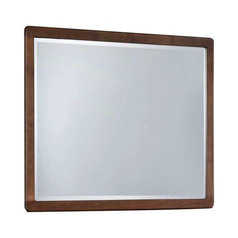"Carson Carrington Salbo Burnt Sugar Rectangular Bevel Mirror - Burnt Sugar - 44"" x 0.75"" x 36"""