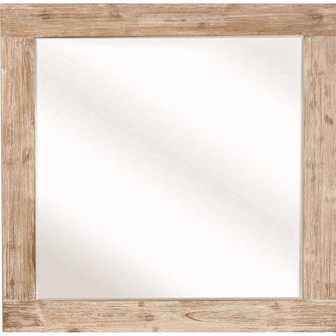 Carbon Loft Verdun Rough Sawn Rectangular Mirror