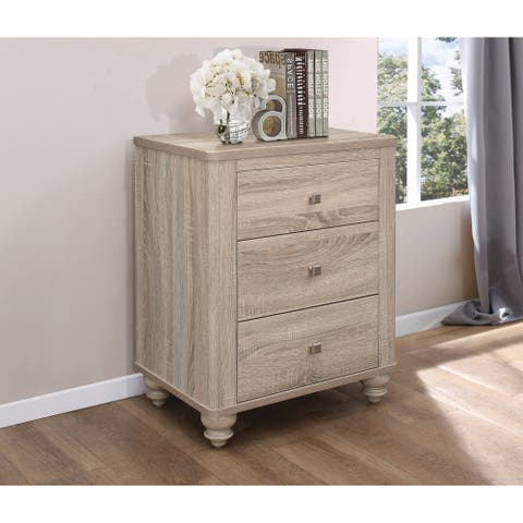The Gray Barn Stormy Thistle Natural Oak 3-drawer Nightstand