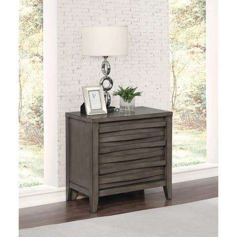 The Gray Barn Pegasus Dark Taupe 2-drawers Nightstand