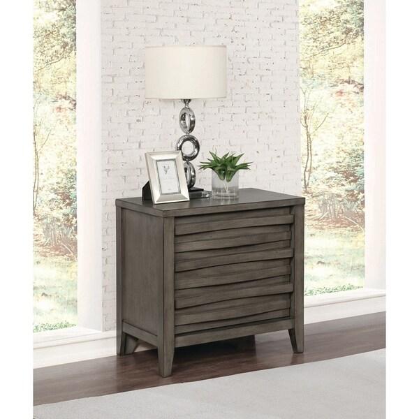 The Gray Barn Pegasus Dark Taupe 2-drawers Nightstand