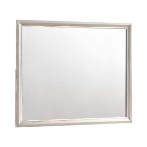 Silver Orchid Bancroft Metallic Sterling Rectangular Mirror