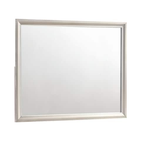 "Silver Orchid Bancroft Metallic Sterling Rectangular Mirror - Metallic Sterling - 45.50"" x 0.75"" x 35.50"""