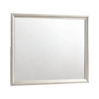 "Silver Orchid Bancroft Metallic Sterling Rectangular Mirror - Metallic Sterling - 45.50"" x 0.75"" x 35.50"""