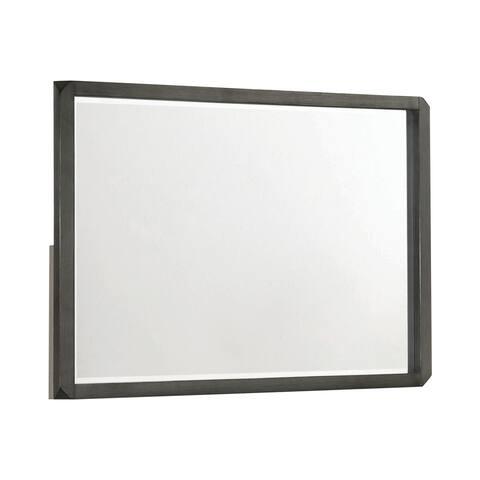 "Porch & Den Chopin Rectangular Mirror - Caviar - 44"" x 2.75"" x 31.75"""