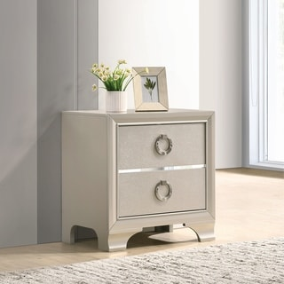 Silver Orchid Anderson Metallic Sterling 2-drawer Nightstand