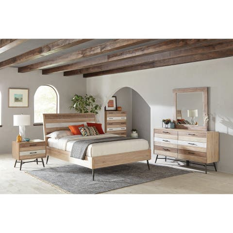 Carbon Loft Verdun Rough Sawn Multi 4-piece Bedroom Set