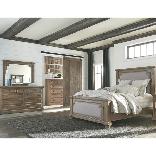 The Gray Barn Morning Lark Rustic Smoke 5-piece Upholstered Bedroom Set