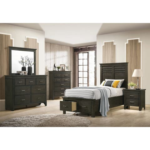 Porch & Den Cecilia Wood 4-piece Storage Bedroom Set