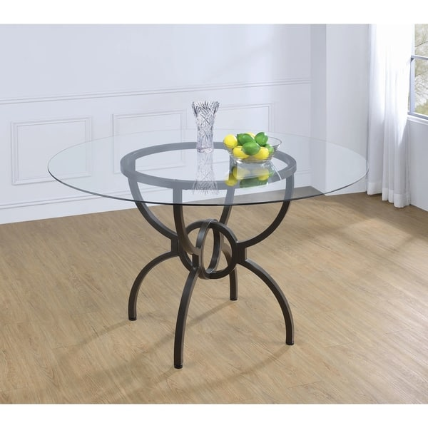 Swell Shop Carbon Loft Brandt Gunmetal Dining Table Base Free Ibusinesslaw Wood Chair Design Ideas Ibusinesslaworg