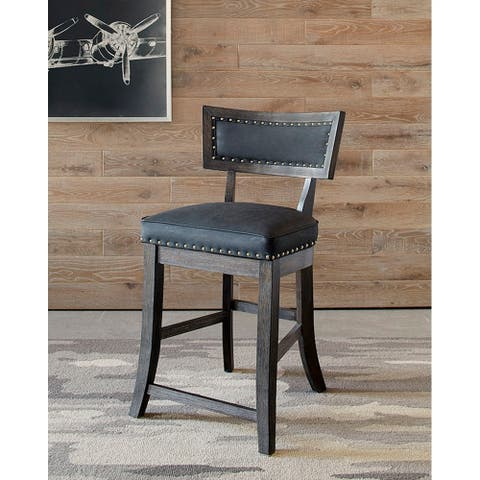 Gracewood Hollow Bajramovic Brown and Black Upholstered Stools (Set of 2)