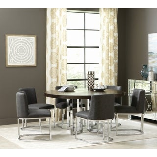 Strick & Bolton Alanis Chrome 5-piece Dining Set