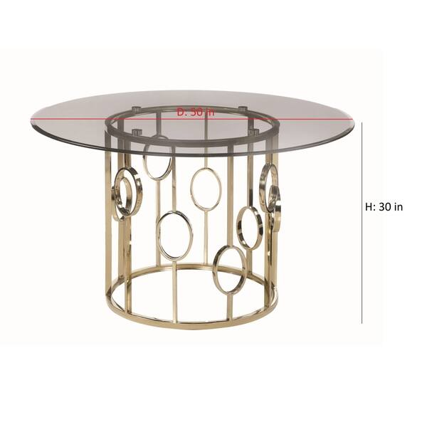 Surprising Shop Silver Orchid Astor Smoke And Champagne Gold Round Ocoug Best Dining Table And Chair Ideas Images Ocougorg