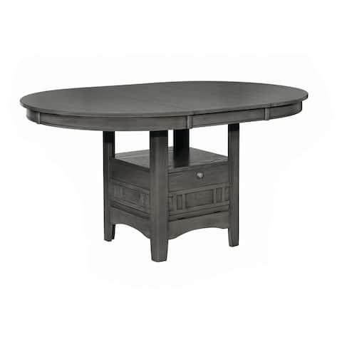 "The Gray Barn Bracken Hill Medium Grey Dining Table with Extension Leaf - 42"" x 30.50"" x 60"""