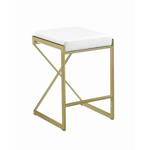 Silver Orchid Allison 25-inch Upholstered Counter Height Stool