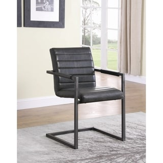 "Carbon Loft Overstreet Weathered Black Upholstered Desk Chair - 21.75"" x 24"" x 33.50"""