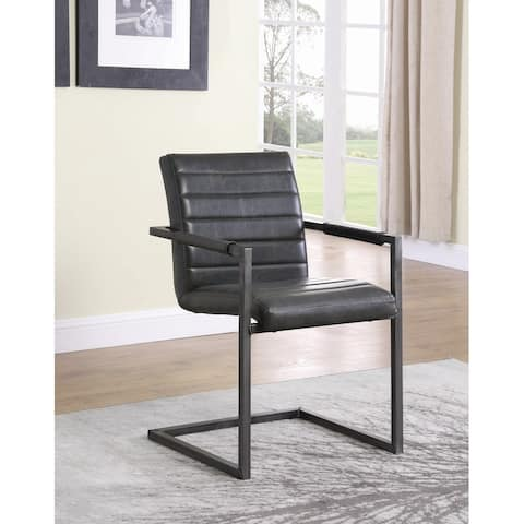 Carbon Loft Overstreet Weathered Black Upholstered Desk Chair