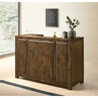 The Gray Barn Gold Creek Grange Rustic Oak 1-drawer Bar Unit