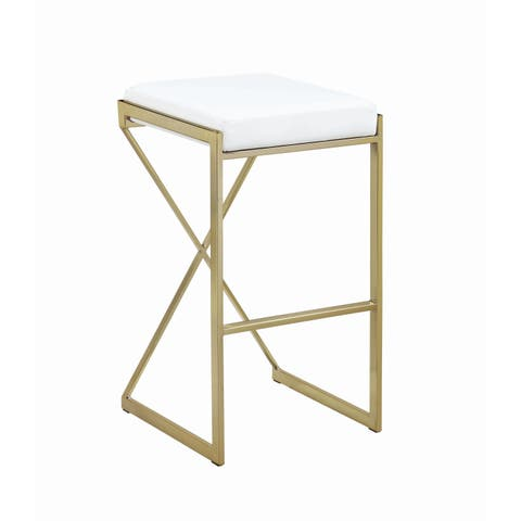 Silver Orchid Allison 30-inch Upholstered Bar Stool