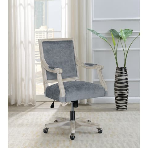 The Gray Barn Wits End Grey and Archaize Adjustable Upholstered Office Chair