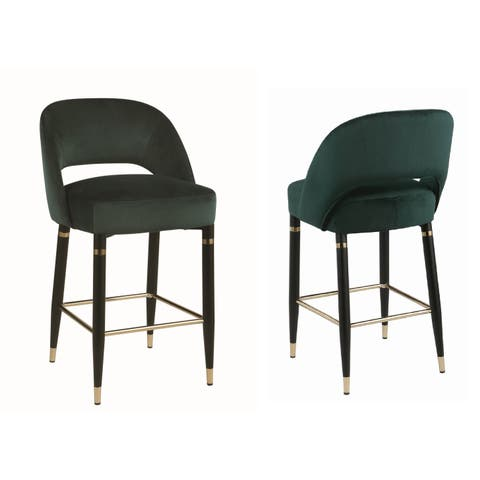 Silver Orchid Arlen Upholstered Counter Height Stools (Set of 2)