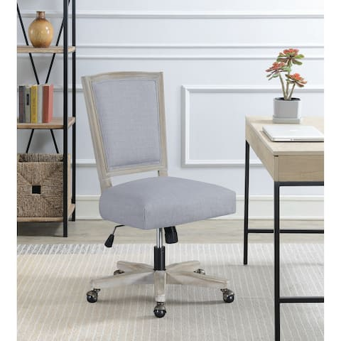 The Gray Barn Wits End Grey Adjustable Upholstered Office Chair