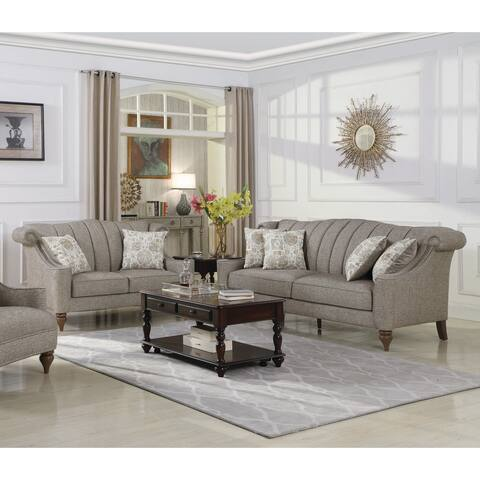 The Gray Barn Crooked Sky Light Brown 2-piece Living Room Set