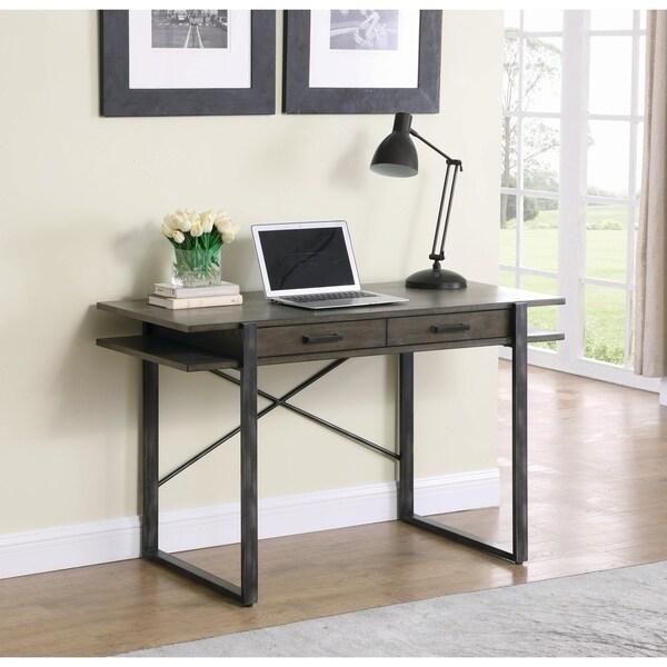 Carbon Loft Overstreet Weathered Elm 2-drawer Writing Desk. Opens flyout.