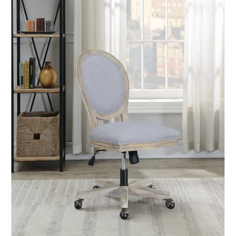 The Gray Barn Wits End Grey and Archaize Armless Adjustable Upholstered Office Chair