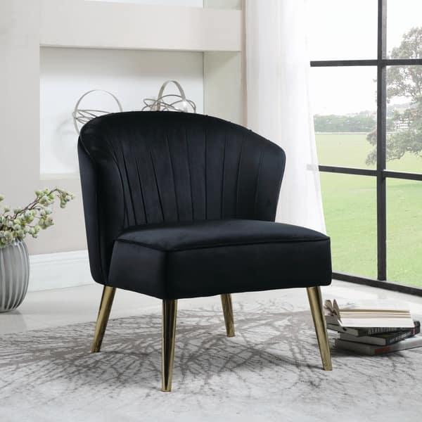 Pleasing Shop Strick Bolton Sabine Black Upholstered Accent Chair Ibusinesslaw Wood Chair Design Ideas Ibusinesslaworg