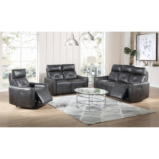 Copper Grove Bochum Charcoal 3-piece Power Living Room Set
