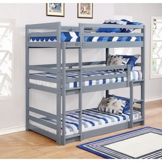 Taylor & Olive Hale Grey Twin Triple Bunk Bed