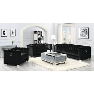 Strick & Bolton La Rose Black 3-piece Living Room Set