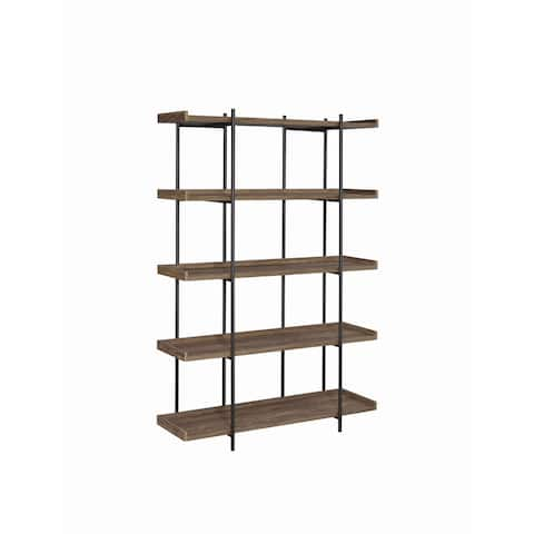 Carbon Loft Kishmere Aged Walnut 5-shelf Bookcase