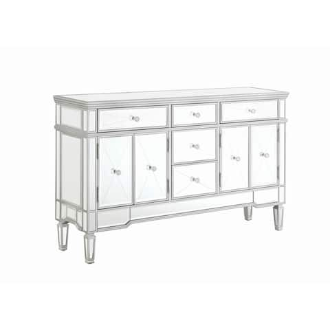 """Silver Orchid Bankhead 5-drawer Accent Cabinet - 59"""" x 15"""" x 35.75"""""""