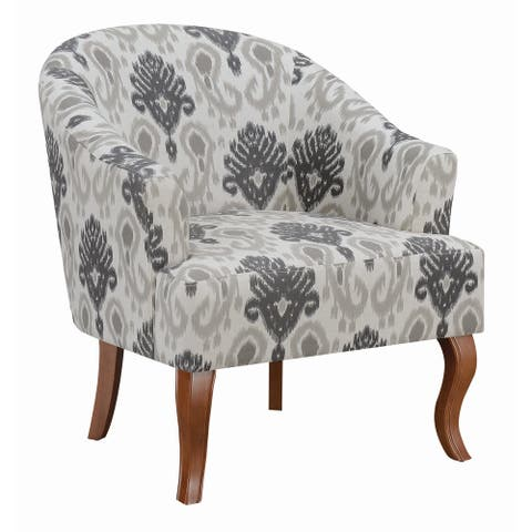 """The Curated Nomad Daggett Patterned Grey Upholstered Accent Chair - 29.50"""" x 31"""" x 32.50"""""""
