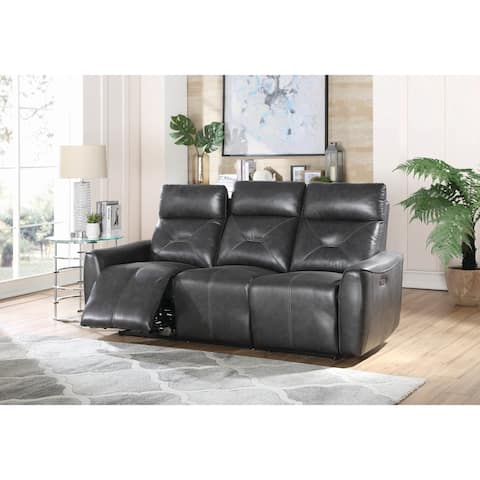 "Copper Grove Argenteuil Charcoal Upholstered Power Sofa - 82.75"" x 37.75"" x 40.25"""