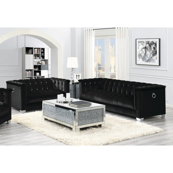 Strick & Bolton La Rose Black 2-piece Living Room Set