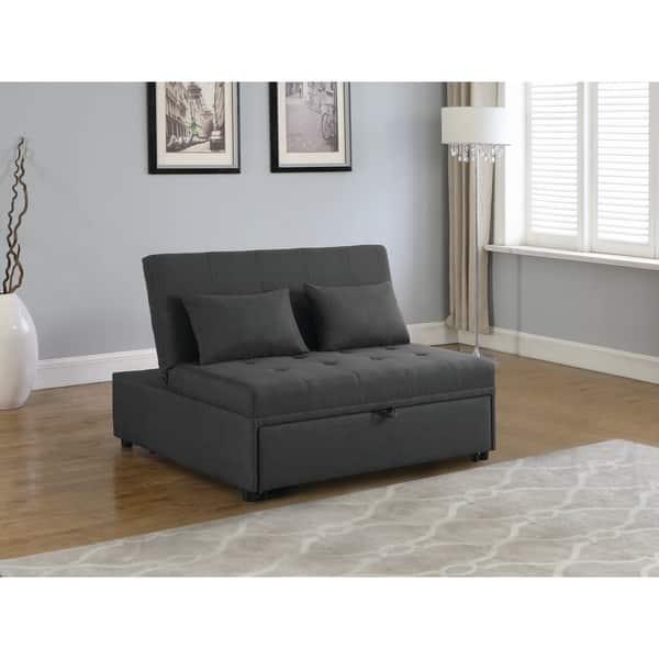 Groovy Shop Porch Den Wisbey Grey Upholstered Sleeper Sofa Bed Short Links Chair Design For Home Short Linksinfo