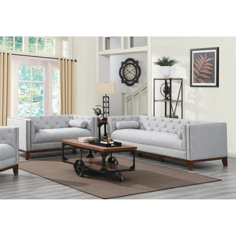 The Gray Barn Blue Dasher Light Grey 2-piece Living Room Set